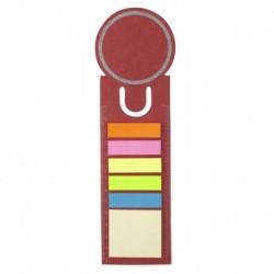 Zestaw karteczek samoprzylepnych, zakładka do książki, linijka